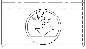 Elk leather crafting pattern